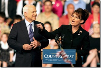 McCain introduces Sarah Palin to the Presidential Campaign - Photo by Mark Lyons-EPA